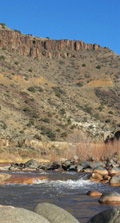 Salt River Canyon, the Black River flows to join White River along with many other tributaries to form the Salt River, a natural northern boundary.